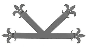 "Load image into Gallery viewer, Egyptian Fleur De Lis Iron ""K"" Plate"
