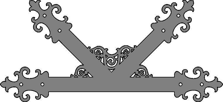 "Gothic Cathedral Iron ""K"" Plate"