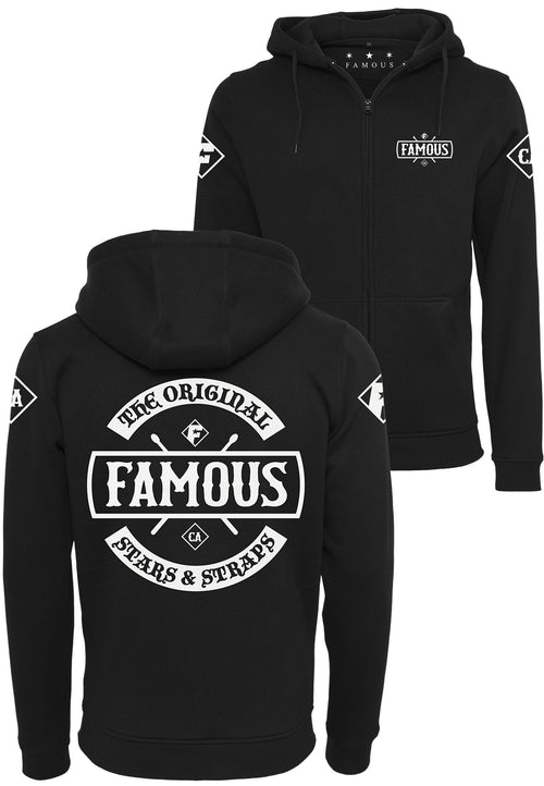 Chaos Zip Hoody - Black