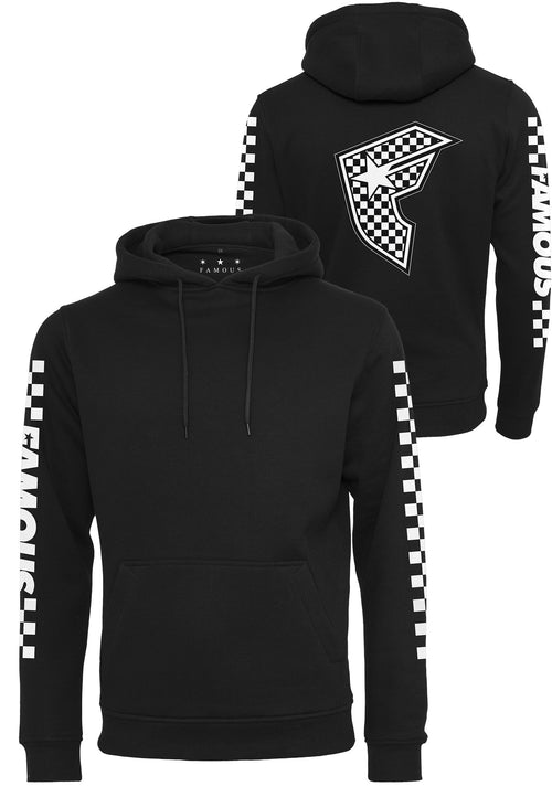 Checker Badge Hoody - Black