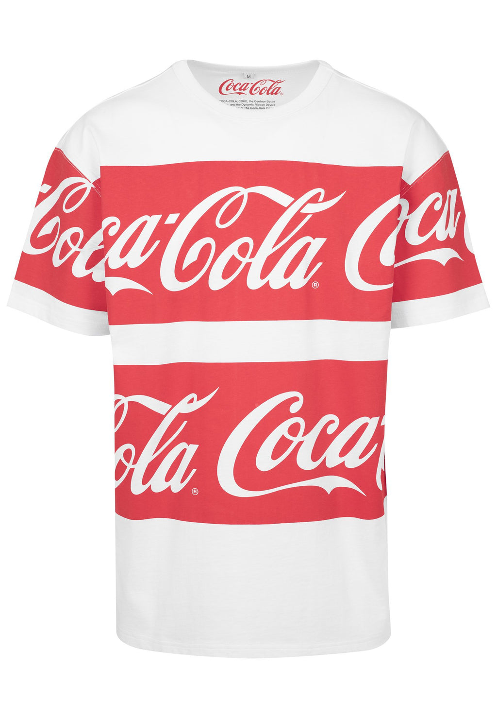 Coca Cola Stripe Oversized Tee - White