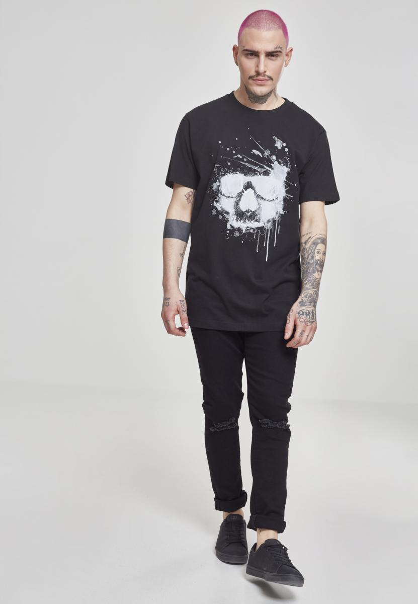Waterpaint Skull Tee - Black