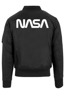 NASA Black Bomber Jacket