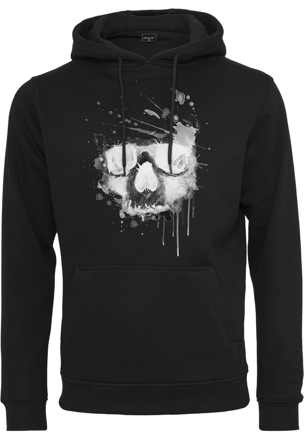 Waterpaint Skull Hoody - Black