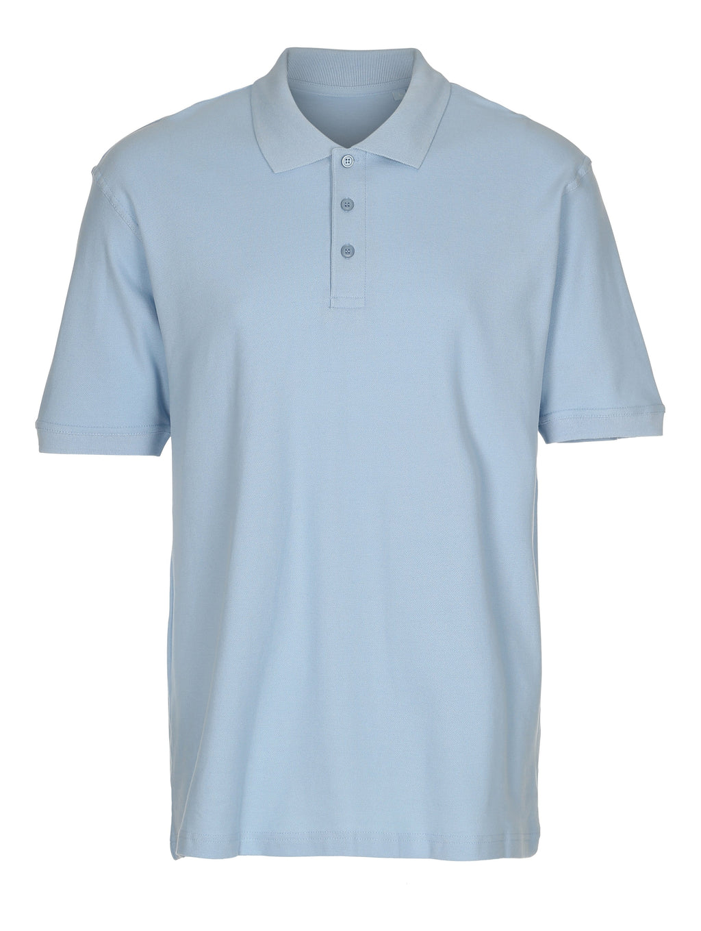 Basiz Pique Polo Shirt - Light blue
