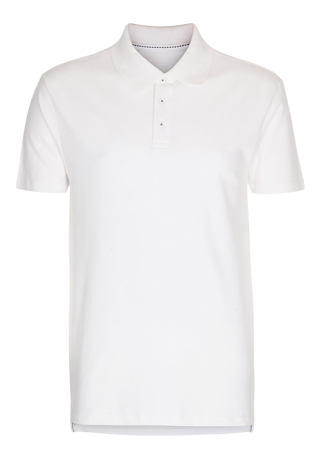 Muscle Fit Polo - White