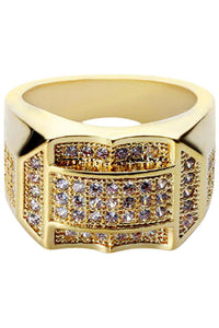 Diamond Crown Gold Ring