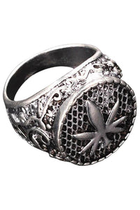 Weedy Raw Silver Ring