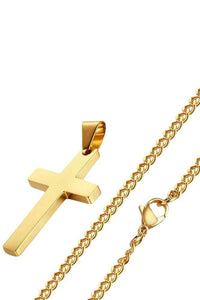 Cross Gold Long Necklace