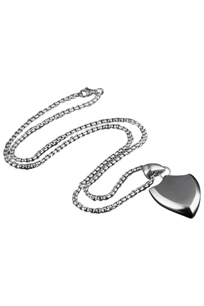 Long Shield Necklace Silver