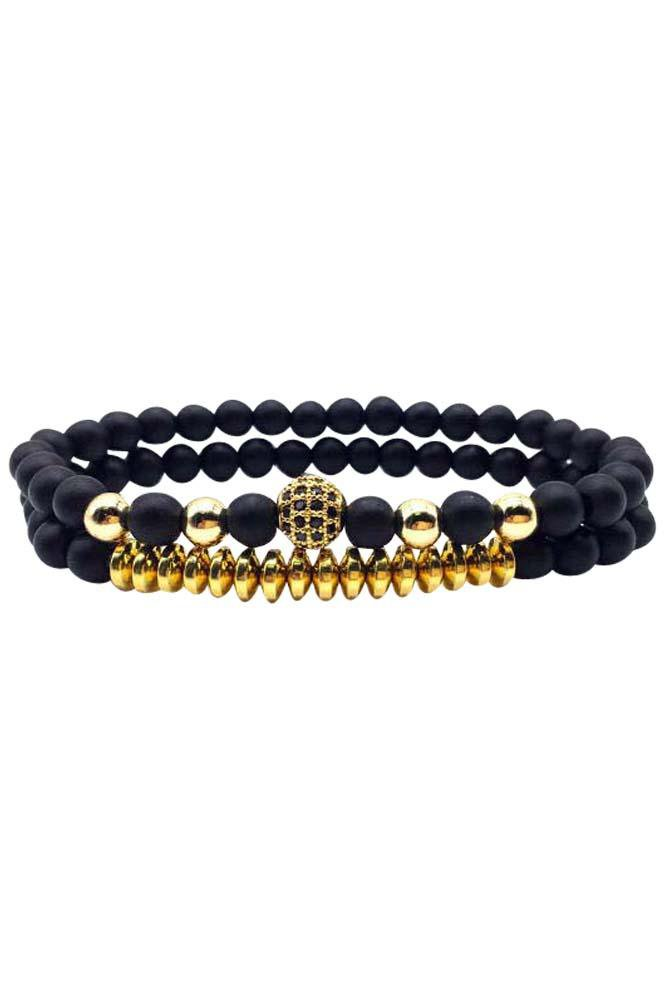Paris Double Gold Bracelet