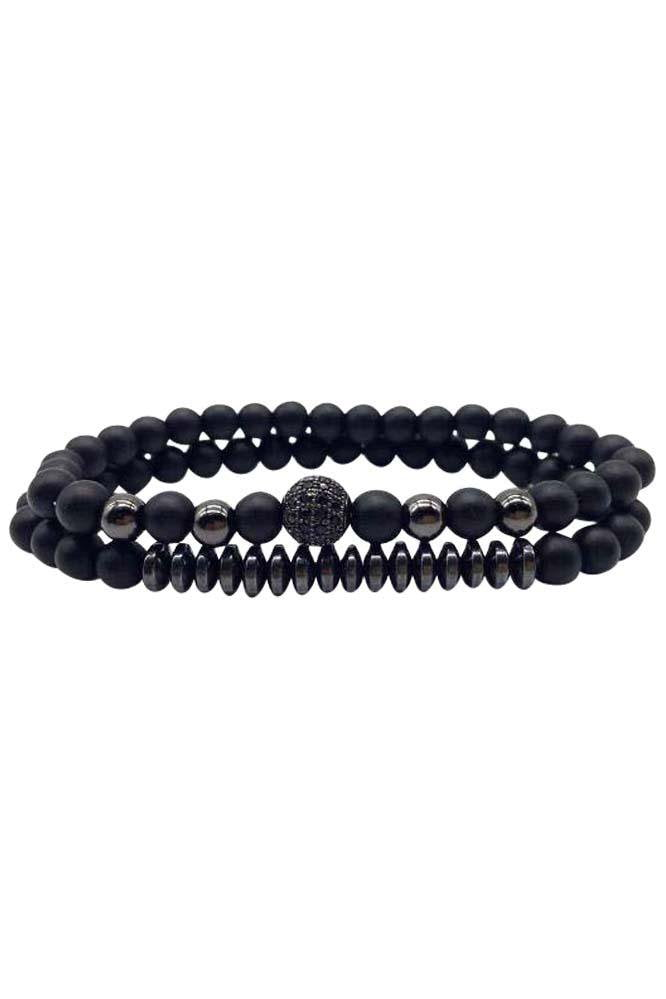 Paris Double Black Bracelet