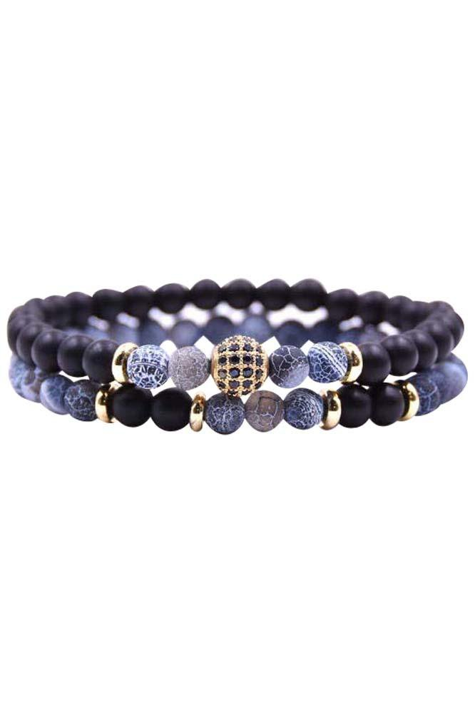 Double Blue n' Moon Bracelet