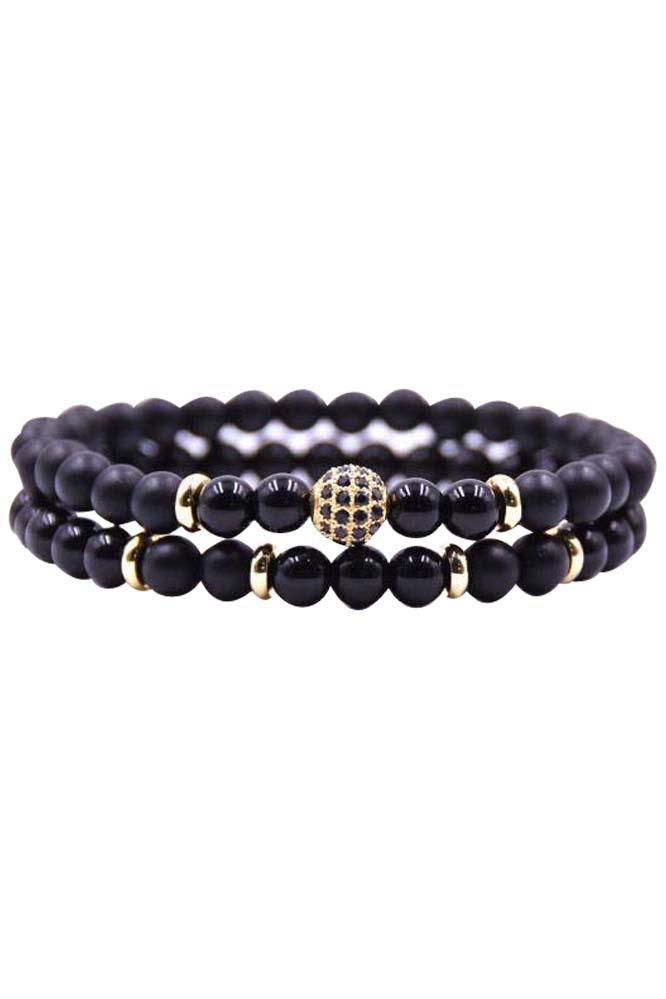 Double Black n' Gold Bracelet