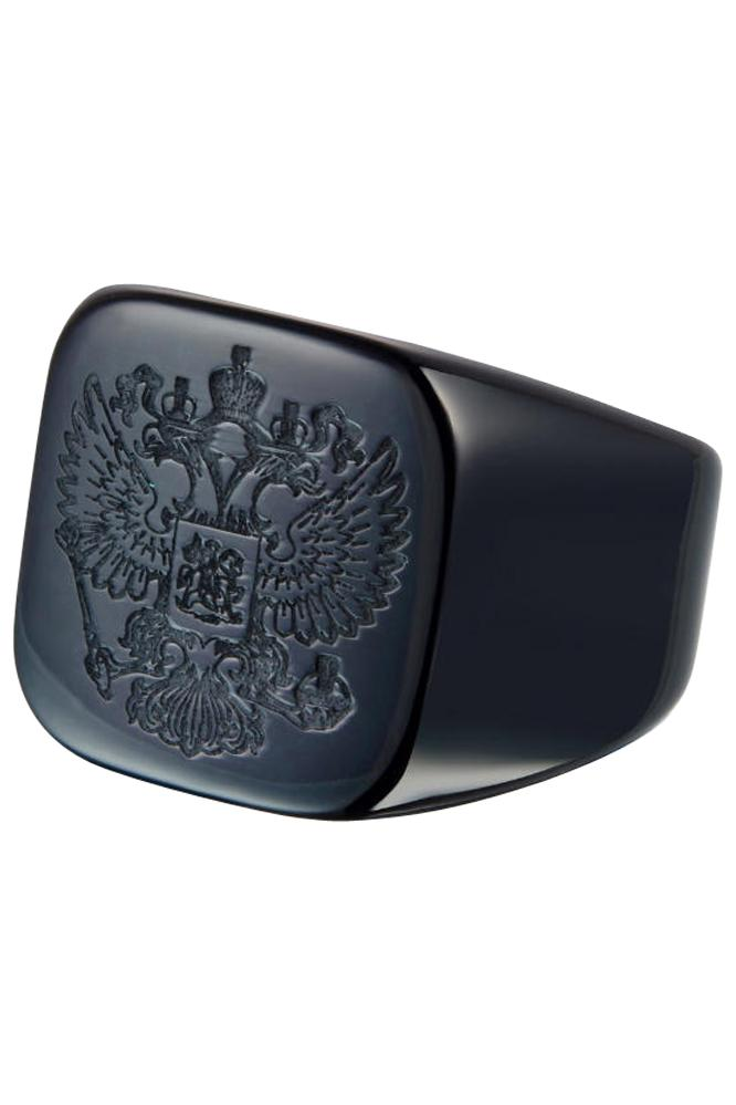 Royal Shield Black Ring