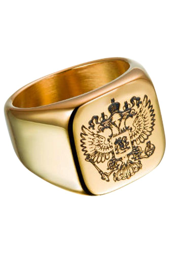 Royal Shield Gold Ring