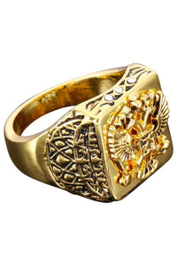 Golden Diamond Eagle Ring