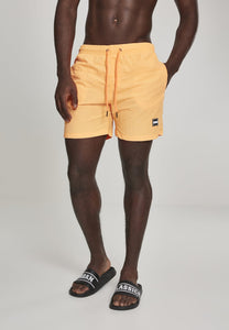 Block Swim Shorts - Neonorange