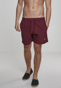 Block Swim Shorts - Bordeaux