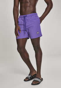 Block Swim Shorts - Purple