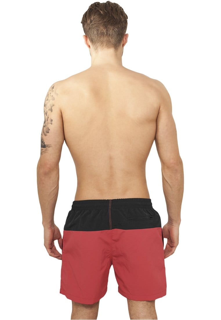 Block Swim Shorts - Black/Red