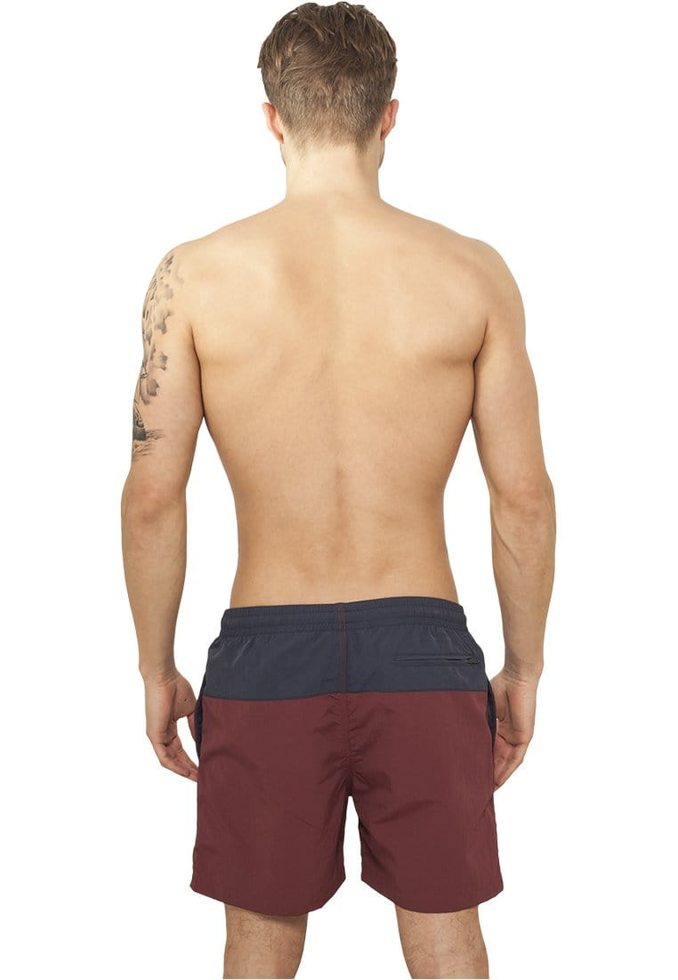 Block Swim Shorts - Navy/Red