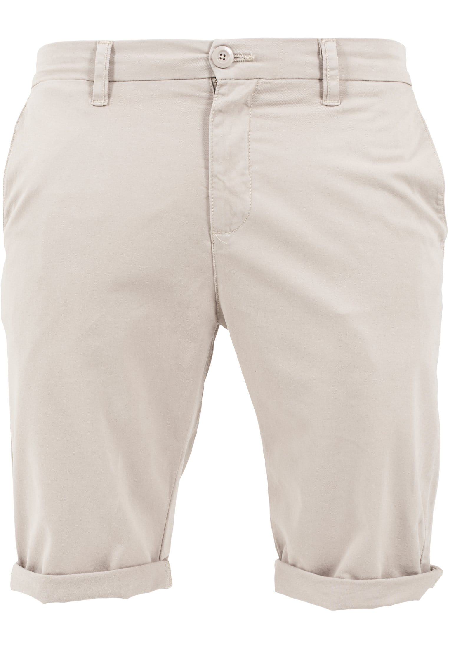 Image of   Stretch Turnup Chino Shorts - Sand