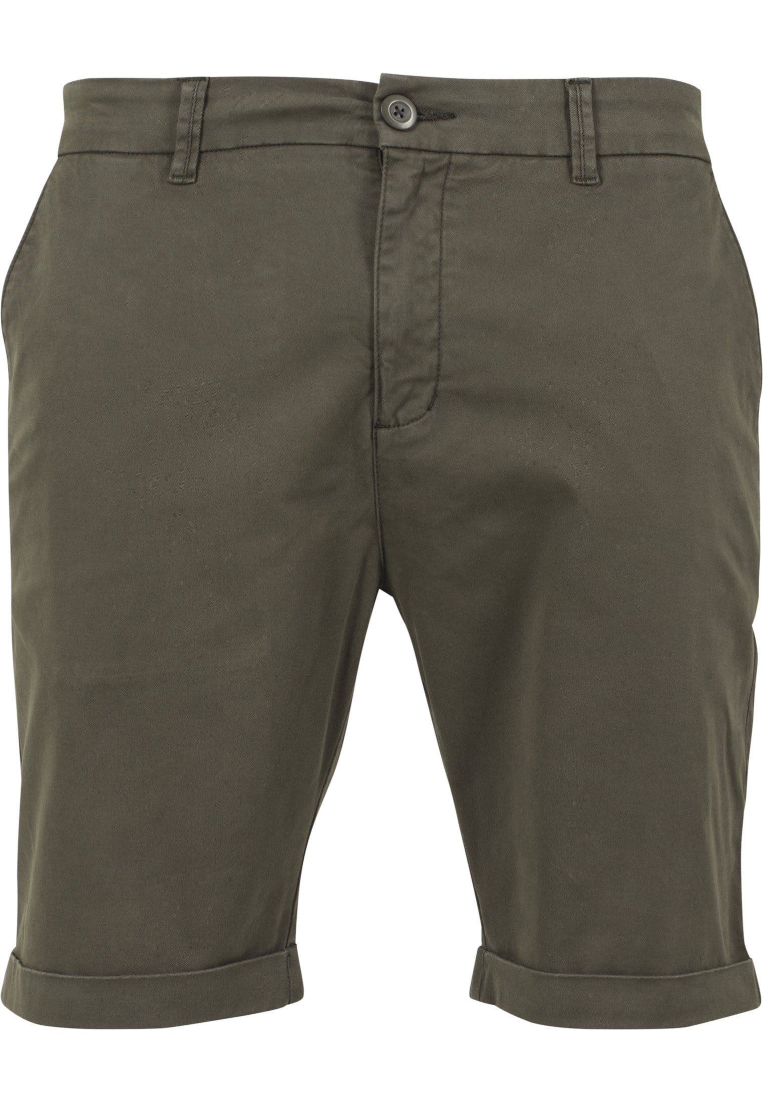 Image of   Stretch Turnup Chino Shorts - Army