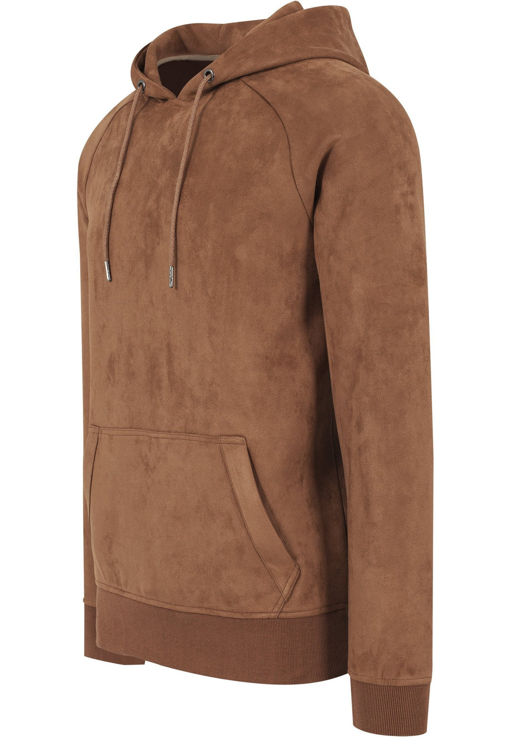 Imitation Suede Hoody - Toffee