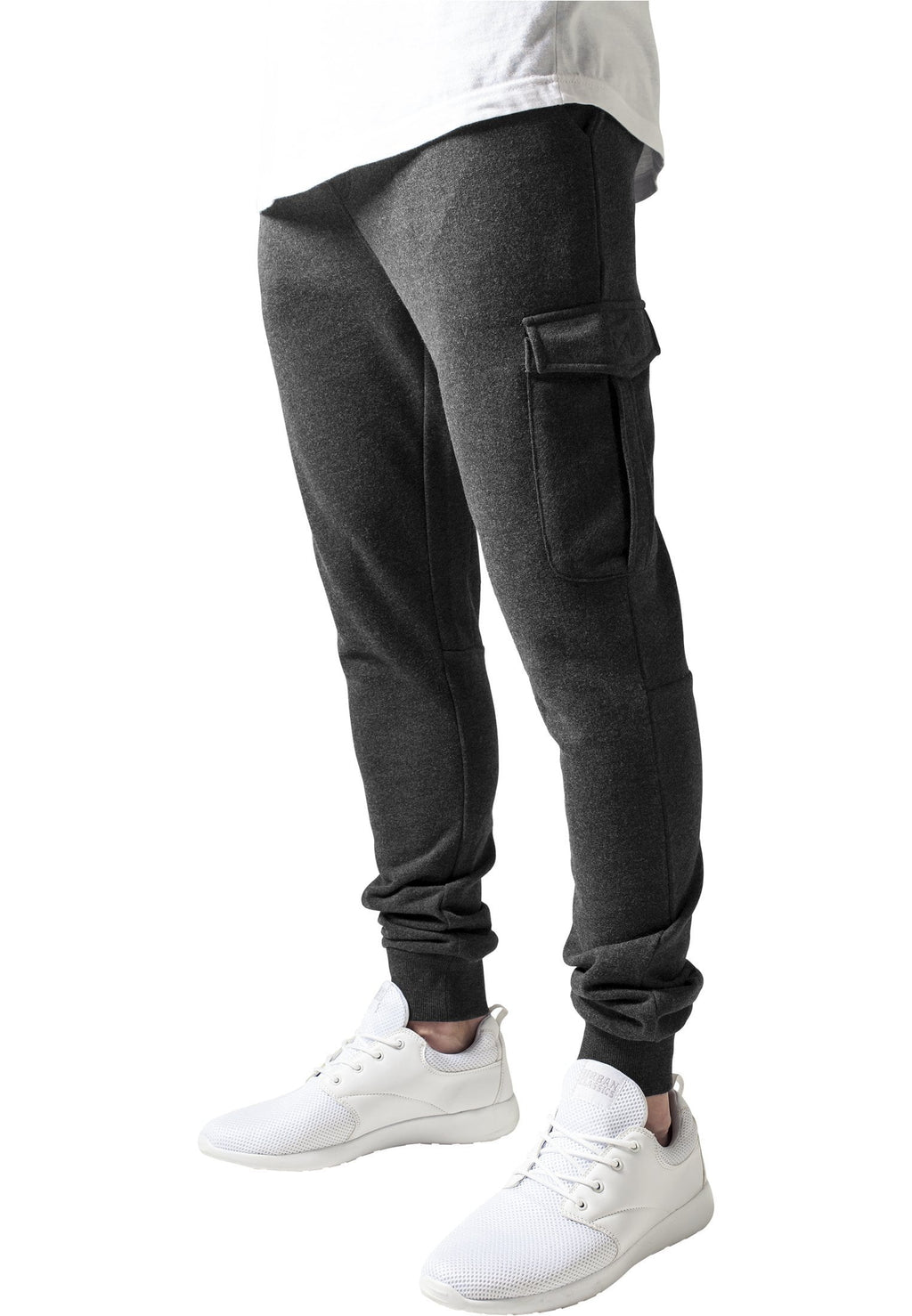 Fitted Cargo Sweatpants - Grey