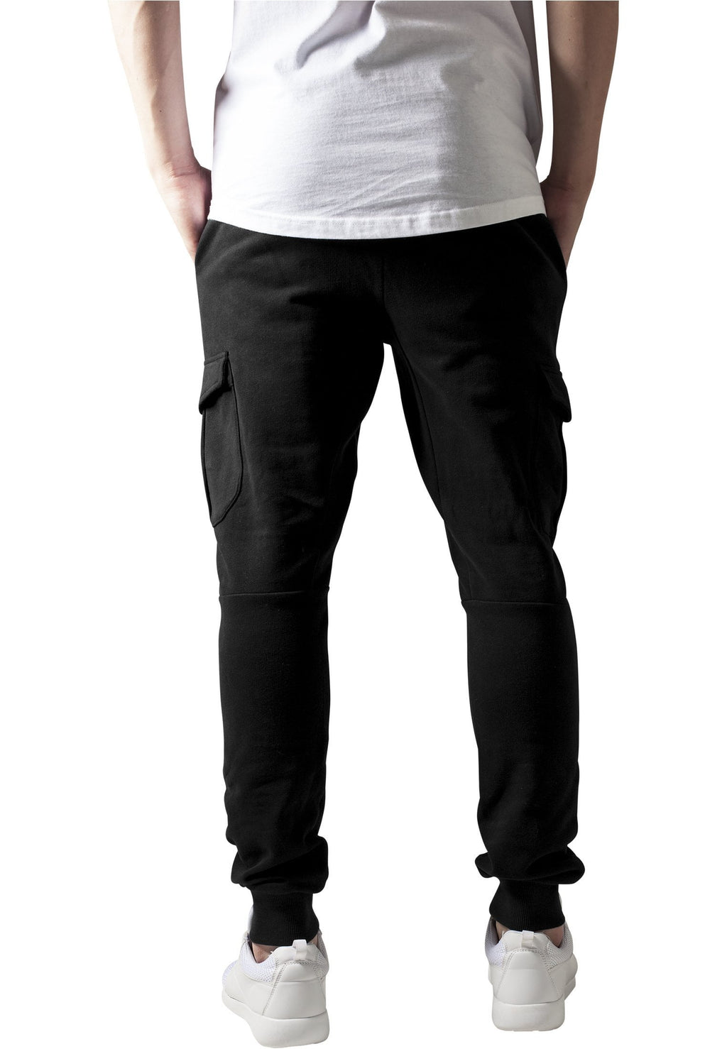 Fitted Cargo Sweatpants - Black