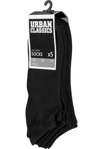 No Show Socks 5-Pack - Black