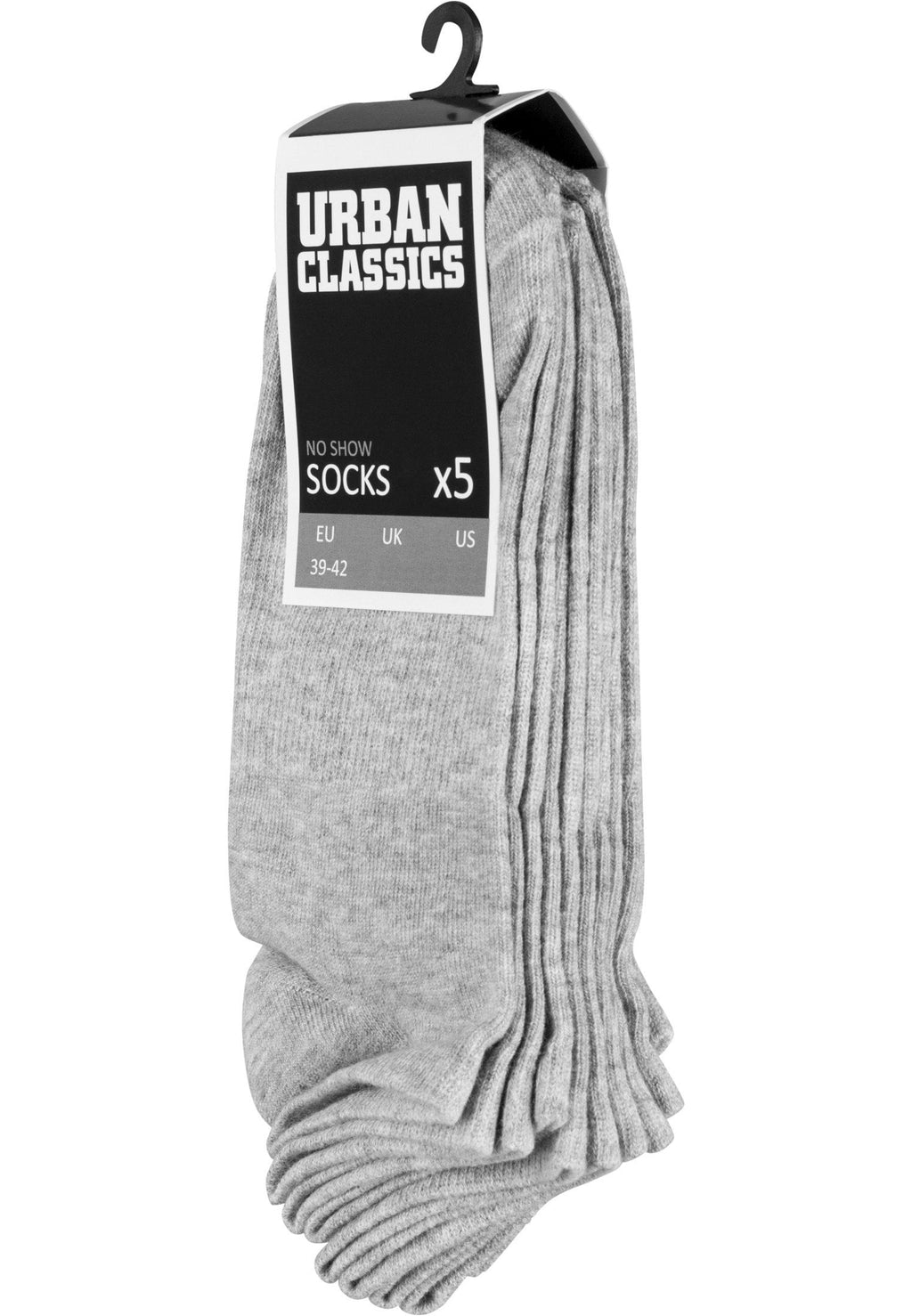 No Show Socks 5-Pack - Grey