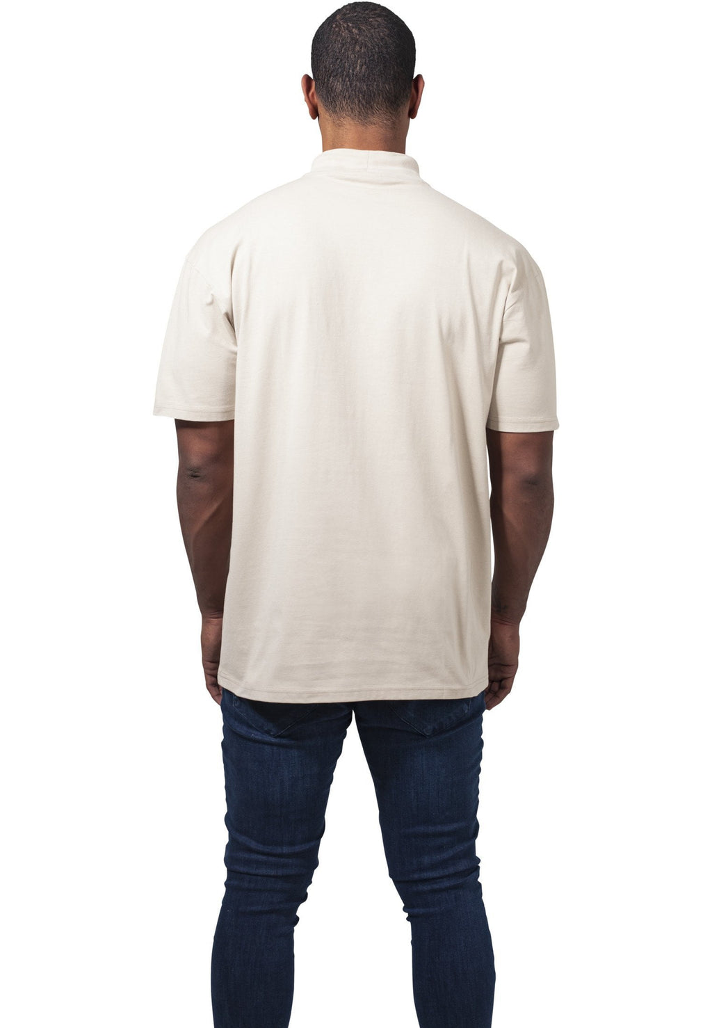 Oversized Turtleneck Tee - Beige