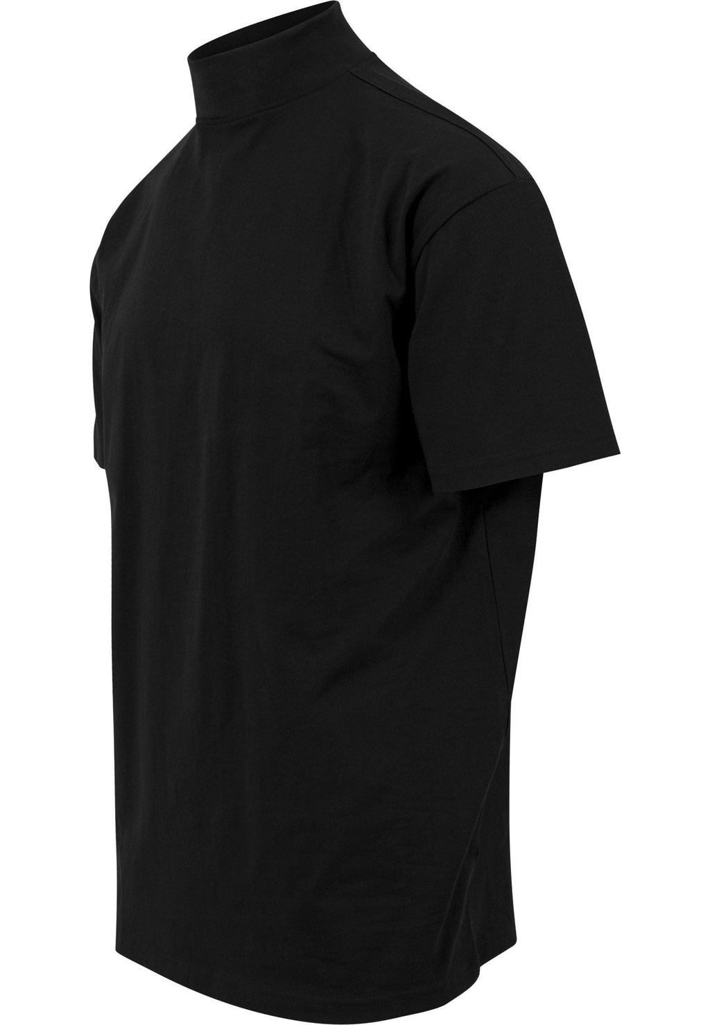 Oversized Turtleneck Tee - Black