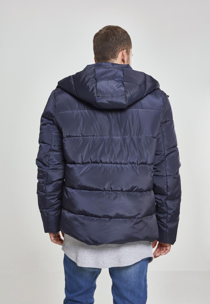 Hooded Puffer Jacket - Navy