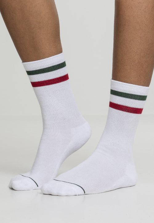 3-Tone College Socks 2 Pack - White