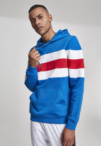 Chest Striped Hoody - Blue