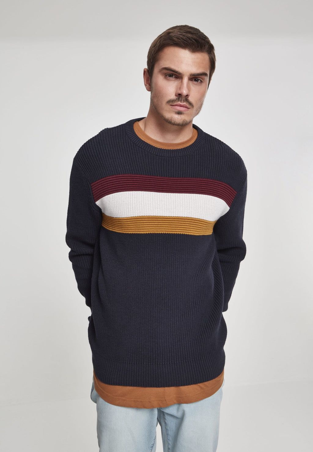 Block Sweater - Navy