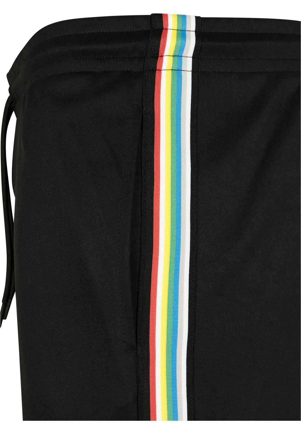 Side Taped Track Shorts - Black