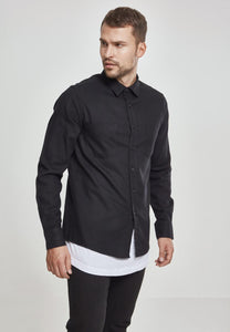Checked Flanell Shirt - Black