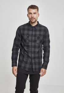 Checked Flanell Shirt - Black/Grey