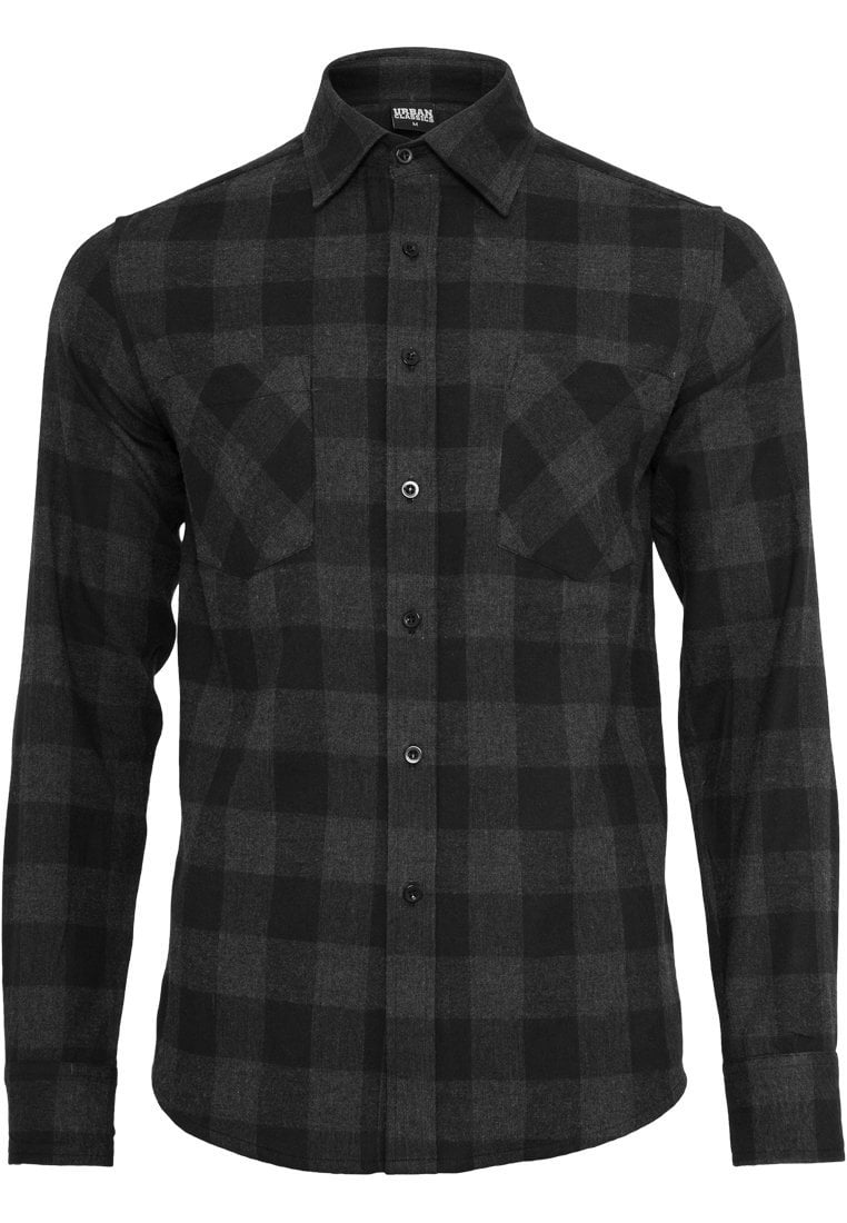 Image of   Checked Flanell Shirt - Black/Grey