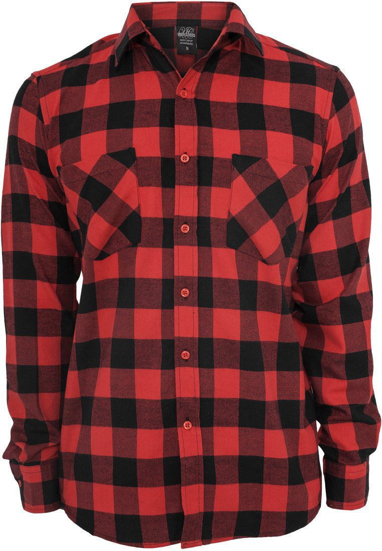 Image of   Checked Flanell Shirt - Black/Red