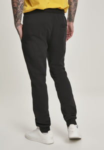 Contrast Drawstring Sweatpants - Black
