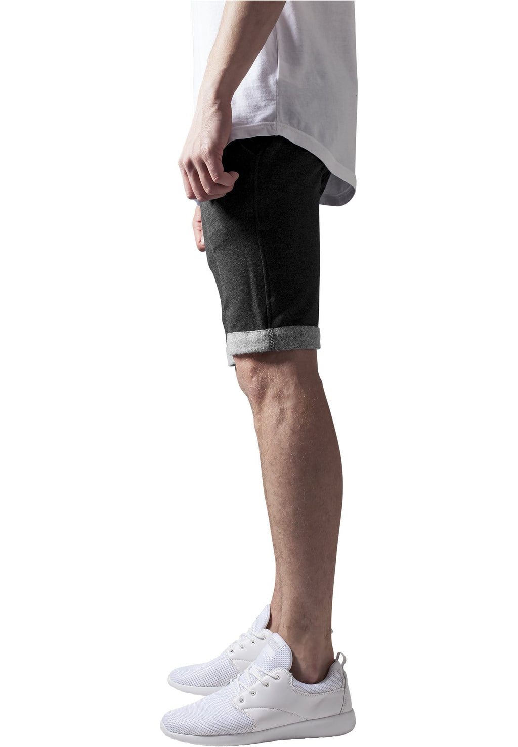 Light Turnup Sweatshorts - Dark Grey