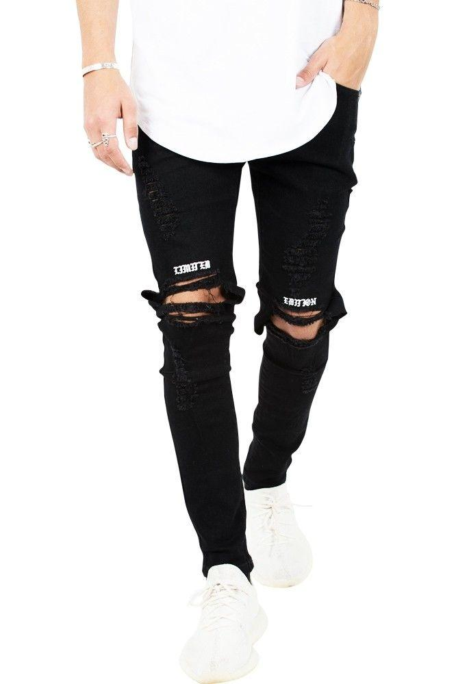 "Image of   ""LIMITED EDITION"" Ripped Rare Black Jeans"