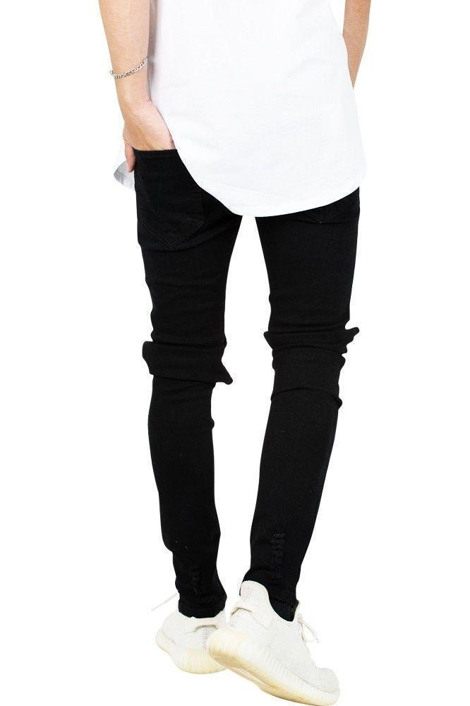"Jeans-tilbud: Basic Slim Fit Jeans + ""Limited Edition"" Ripped Rare Black Jeans"