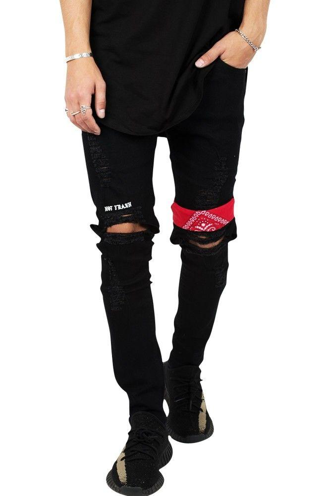 "Image of   ""NOT TRASH"" Ripped Rare Black Jeans"
