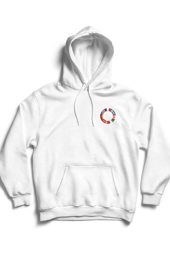 Image of   HypeBeazt Flag Hoodie - White